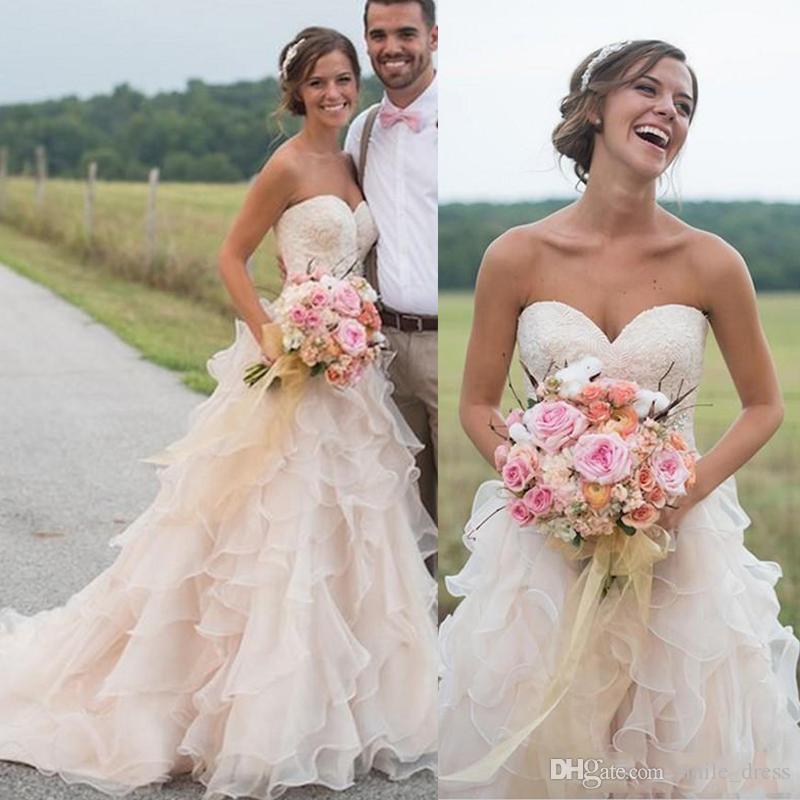 Discount Country Western Wedding Dress Vestido Novia 2018 Sweetheart ...