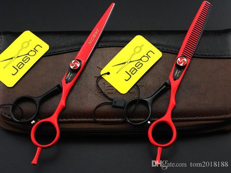 wholesales 6.0Inch Jason Hair Scissors Professional Hairdressing Scissors Kits Cutting