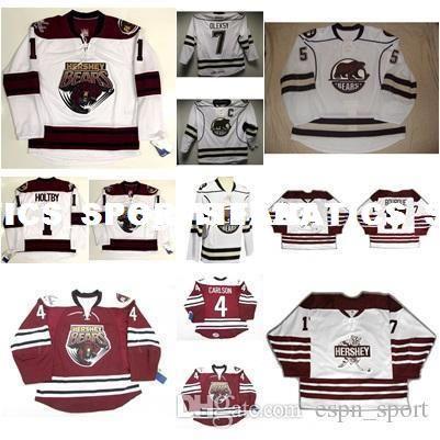 Custom 1 Brayden Holtby Mens Womens Kids AHL Hershey Bears 17 ... 780f6d966