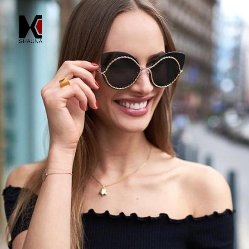 8b9750b430 SHAUNA Oversize Stylish Women Rimless Sunglasses Fashion Rimless ...