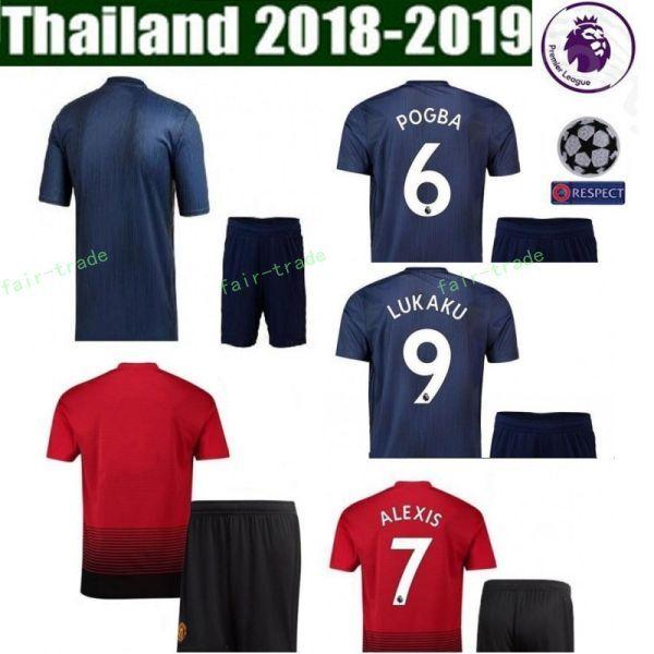 5053e9ef60e 18 19 FC Manchester United Soccer Jersey Man Set 6 Paul Pogba 9 ...