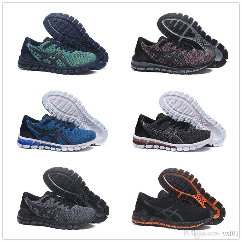 buy online c377a cd96d 2018 New Gel-QUANTUM 360 Knit 2 Soft Bottom Running Shoes for High quality  Mens Trainers Chaussures Black Green Sports Sneakers Size 40-45