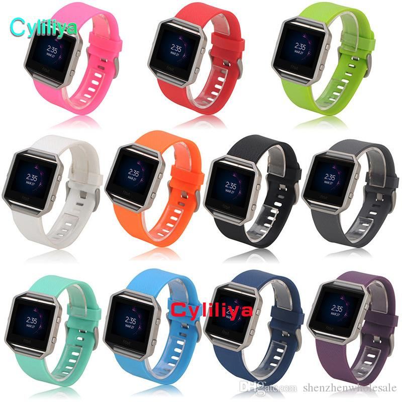 Replacement Soft Silicone Wrist Band Strap Bracelet Watchband for Fitbit Blaze Sport Watch Wristband No Tracker