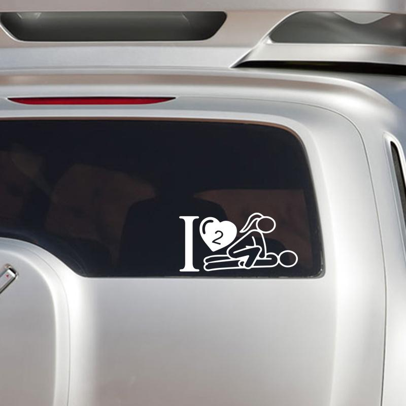 I Love To Have Sex Sexy Girl Guy Heart Car Truck Window Vinyl Decal Sticker