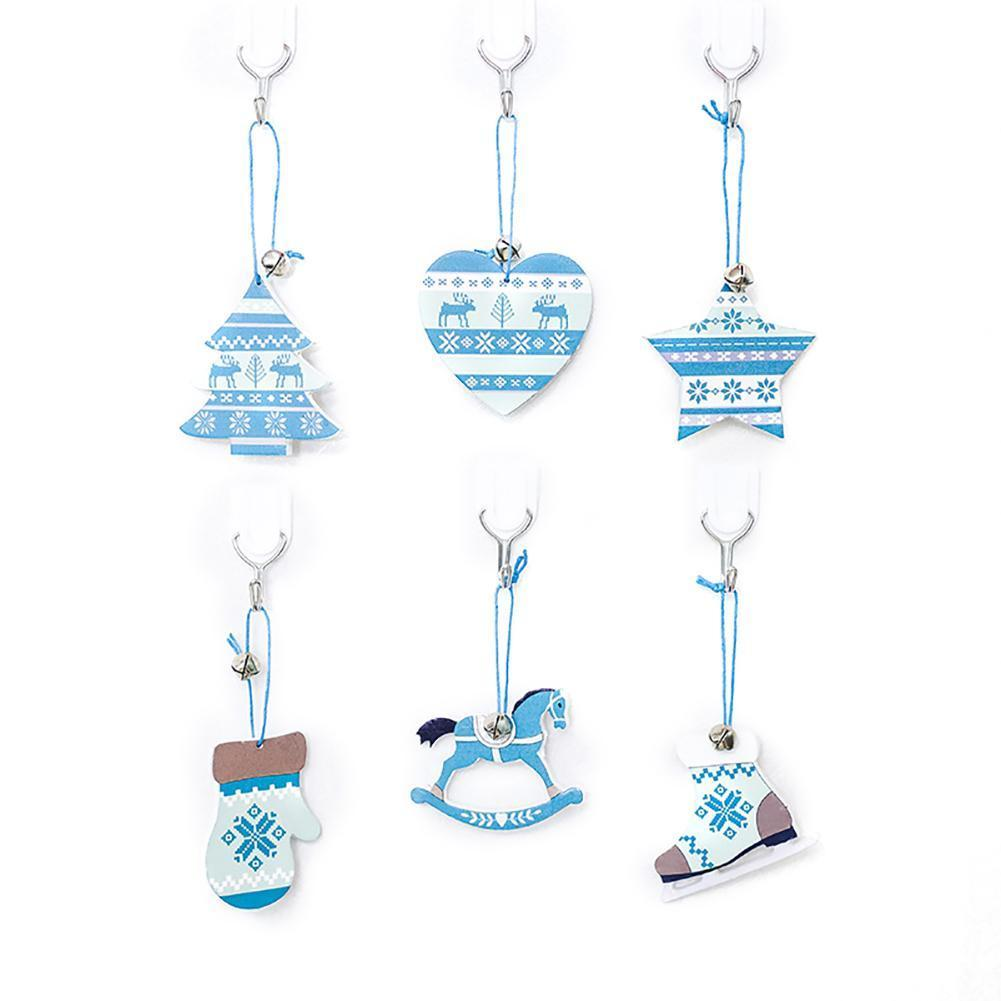 Christmas Tree Decorations Nordic Style Christmas Decor Blue Drawing