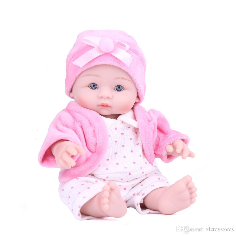 Großhandel Reborn Puppe Mini Baby 8 Zoll Niedlichen Schönen Baby ...