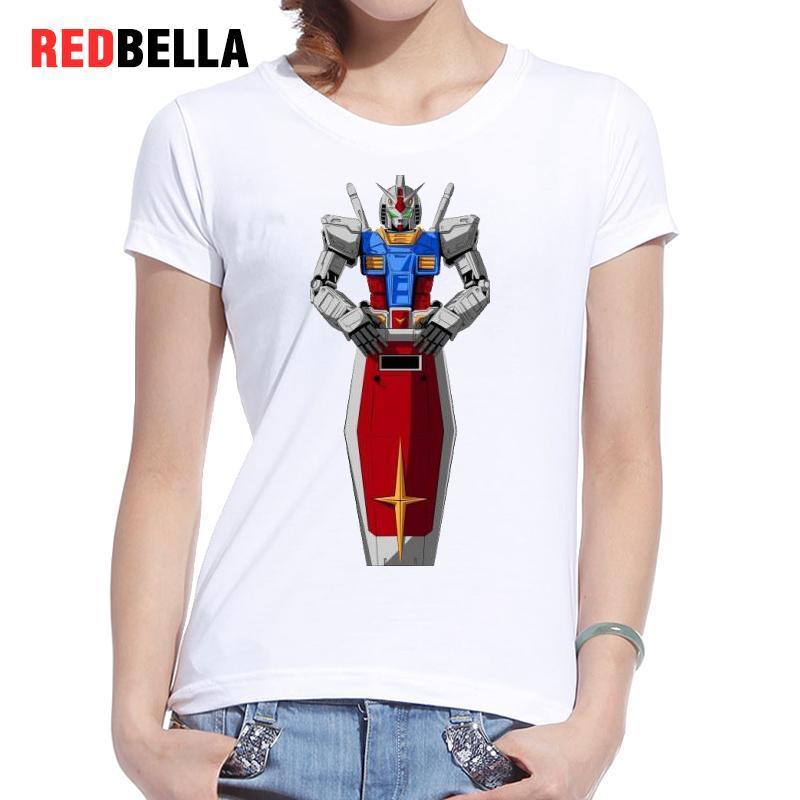 Compre Camiseta De La Mujer Redbella Camiseta De Navidad Dibujos Animados Japoneses  Anime Robot Fresco Camiseta De Las Mujeres Casual Algodón O Cuello Moda ... 2e063be3fb3bb