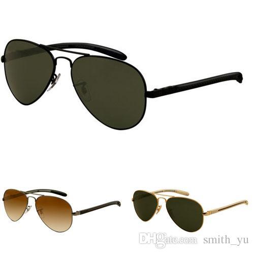 aa8b5418b0 Compre Moda Gafas De Sol De Carbono Hombres Mujeres Nueva Marca Diseñador  Espejo UV400 Fibra Gafas Oculos De Sol Cool 8307 Gafas De Sol Con Caja Para  La ...