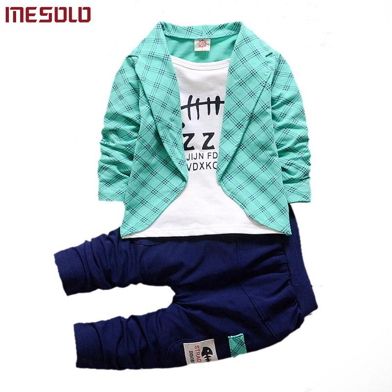 c870db89b79f Boys Formal Clothing Kids Attire For Boy Clothes Plaid Suit In ...
