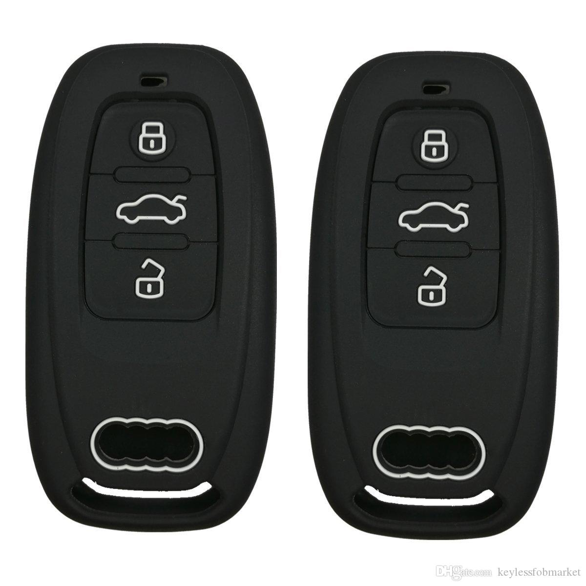 3 Buttons Car Key Fob Remote Cover Key Case Skin Holder Protector Shell Keyless For Audi A1 A3 A4 A5 A6 A7 A8 Q5 Q7 R8