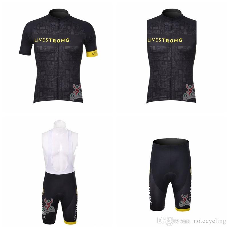 LIVESTRONG Cycling Short Sleeves Jersey Bib Shorts Sleeveless Vest Sets Bike  Wear Comfortable Quick Drying New Ropa Ciclismo HombreA41602 Cycling Jersey  ... 8ef7c2dec