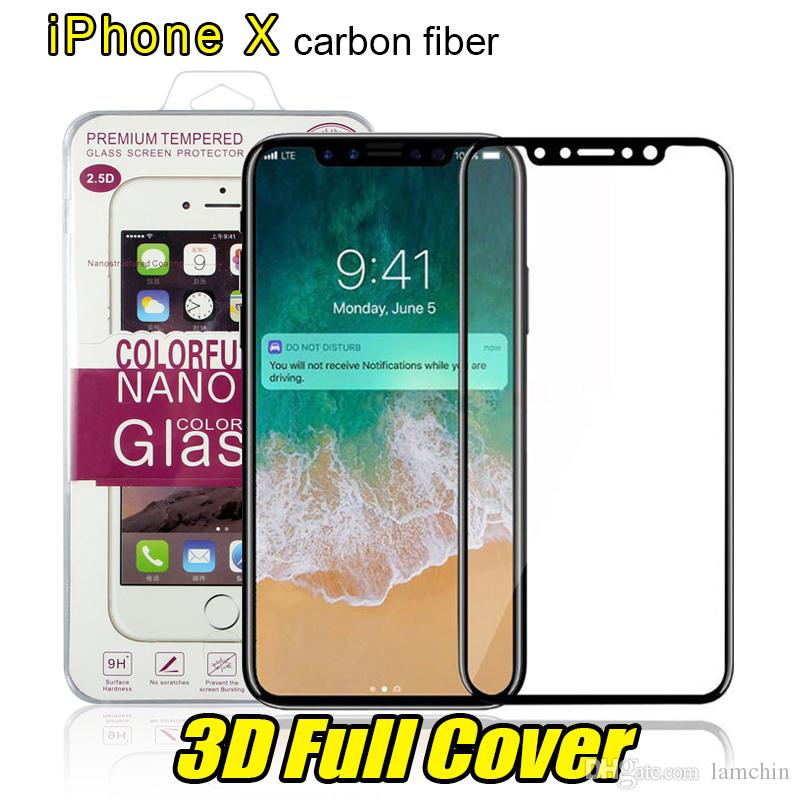 28a9c542fd4 For Iphone 8 Plus Iphone X 3d Full Cover Color Tempered Glass Soft Edge  Screen Protector For Iphone 8 7plus With Box Package Screen Protector Cell  Phone .