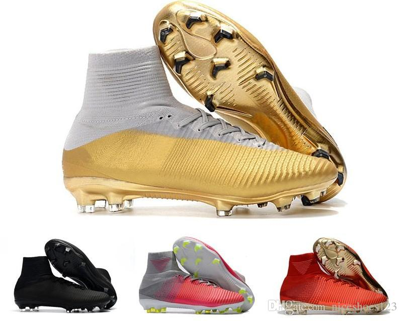 a095e1df879 2019 2018 New Kids Soccer Shoes Mercurial CR7 Superfly V FG Boys Football  Boots Magista Obra 2 Women Youth Soccer Cleats Cristiano Ronaldo From  Niceshoes123 ...