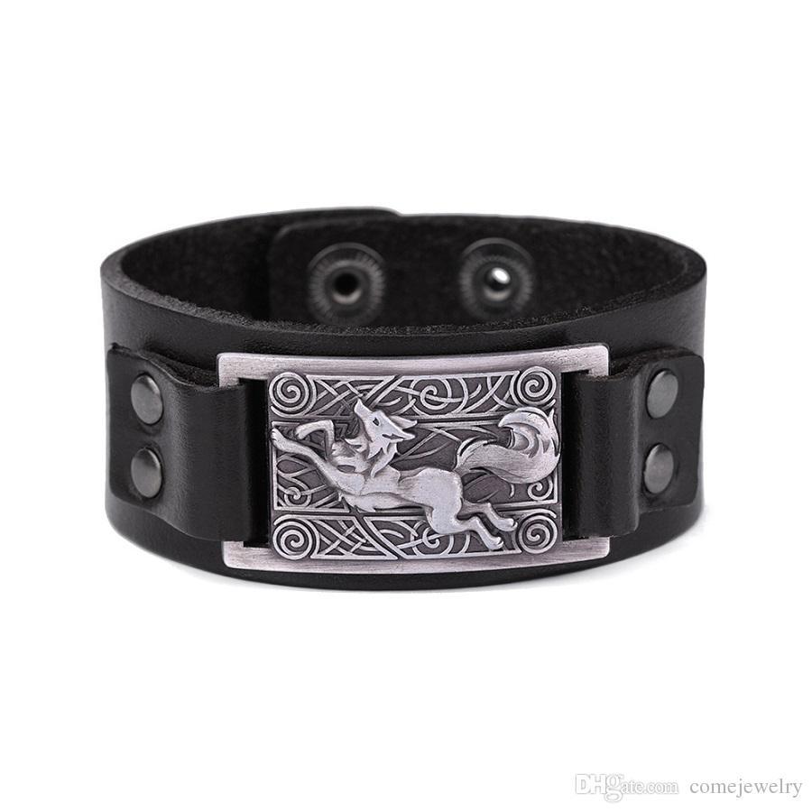 Vegemeton 2018 New Fenrir Animal Teen Wolf Bracelets Indian Jewelry