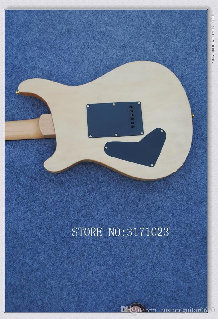 Custom Natural 24 birds inlay fret board Electric Guitar