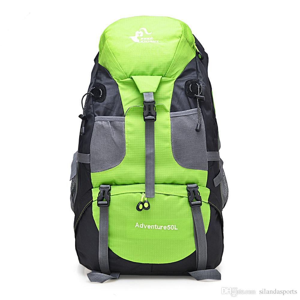 Silanda Sports Climbing Backpack 50L Waterproof Outdoor Rucksack Cycling Hiking Backpack Trekking Camping Bag Mountain Backpack