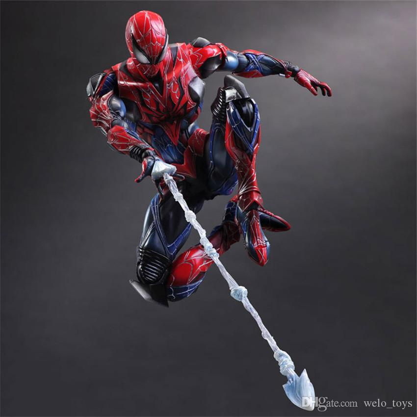 PA Spider Man Action Figures Movable PVC Figures Doll Toys for Kids 26CM Play Arts PVC Collectible Toy with Color Box