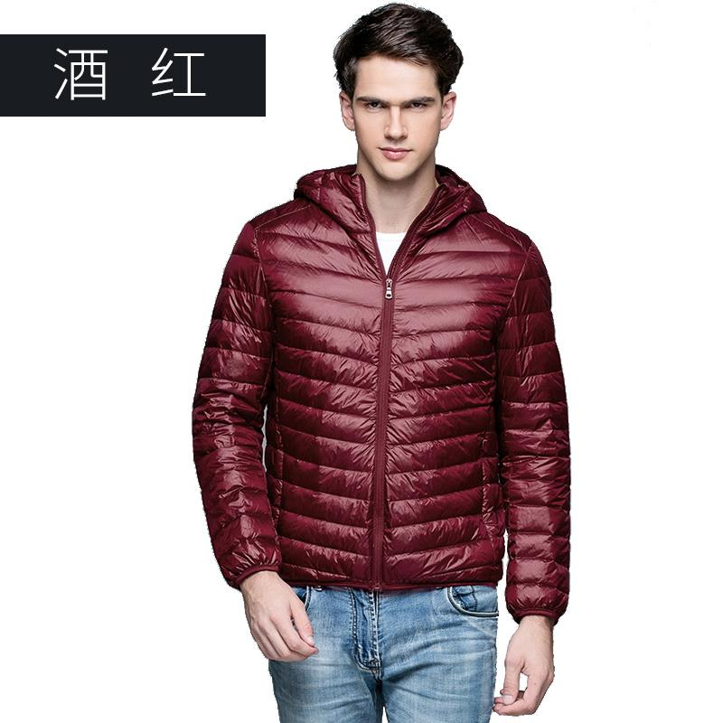 Down Jackets Man Winter Autumn Jacket 90% White Duck Down Jackets Men Hooded Ultra Light Down Jackets Warm Outwear Coat Parkas Outdoors