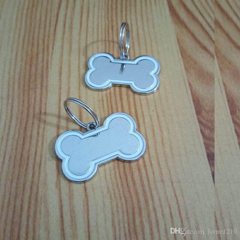 Mini étiquette d'identification de chien de chat d'acier inoxydable étiquette personnalisée adaptée aux besoins du client de chien de forme d'os