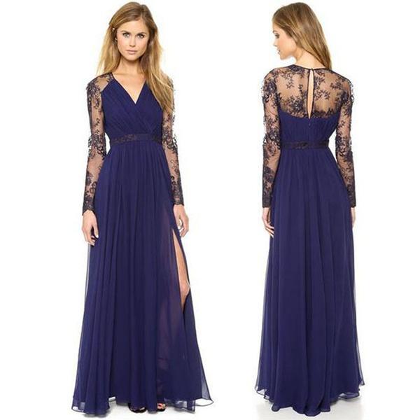 Plus Size Prom Wedding Dress Summer Chiffon Fashion Elegant Long