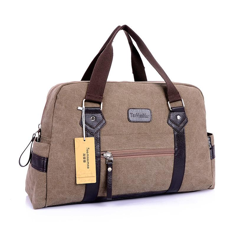 New men's Fashion casual canvas travel duffel shoulder messenger soft handle bags for male men travel bags