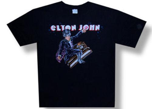 Elton John-Captain Piano-2008 Canada Tour-Black T-shirt