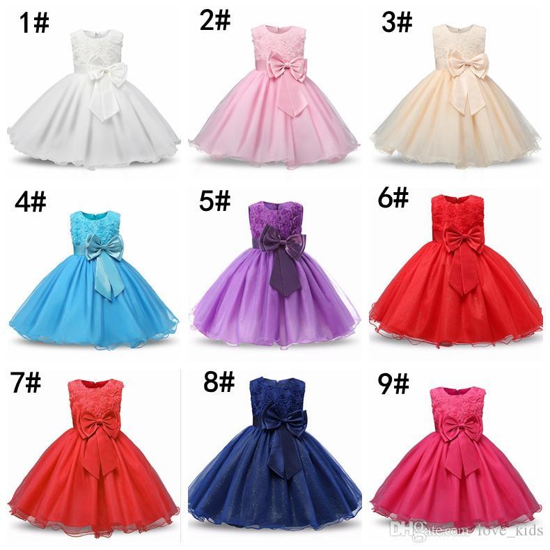 ea49ce7ce Compre es Princesa Niña De Flores Vestido De Verano Vestido De Tutú Vestidos  De Banquete De Boda Para Niños Niñas Traje Adolescente Diseños De Baile A  ...
