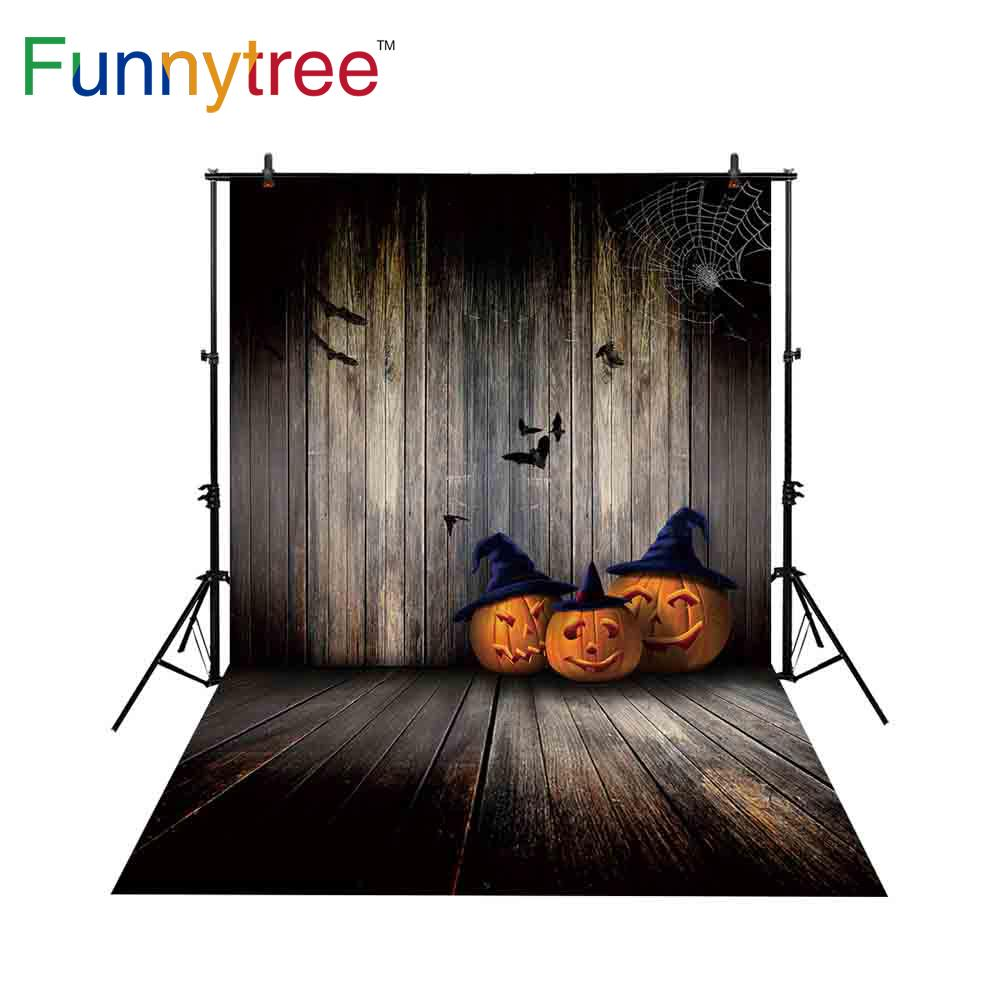 2018 wholesale backdrop for photo studio halloween vintage wood wall pumpkins bat spider web photography background photocall prop from guojiangcomputer