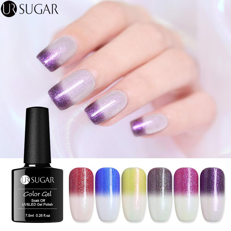 UR SUGAR Thermal Color Changing Gel Nail Polish Sunlight Sensitive ...
