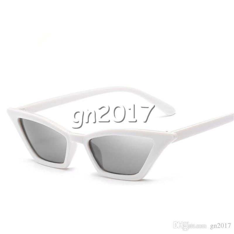 European Women & Men Fashion Sunglasses Small Frame Sun Glasses Dazzle Colour Eyeglasses Anti-UV Spectacles Couple Sun Glasses