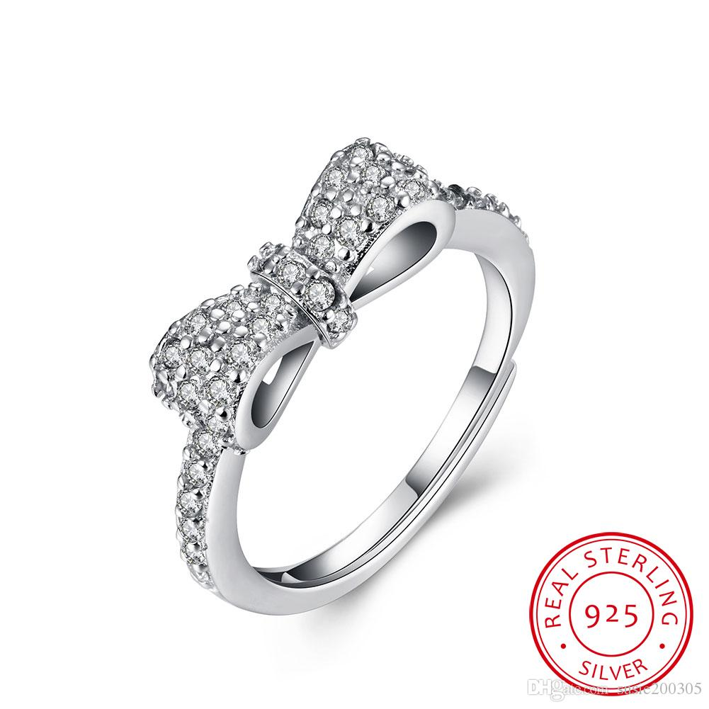 Butterfly Wedding Rings Alliance Women Large Size Couple Rings For Women Round Silver Ring Lover Forever Engagement Rings
