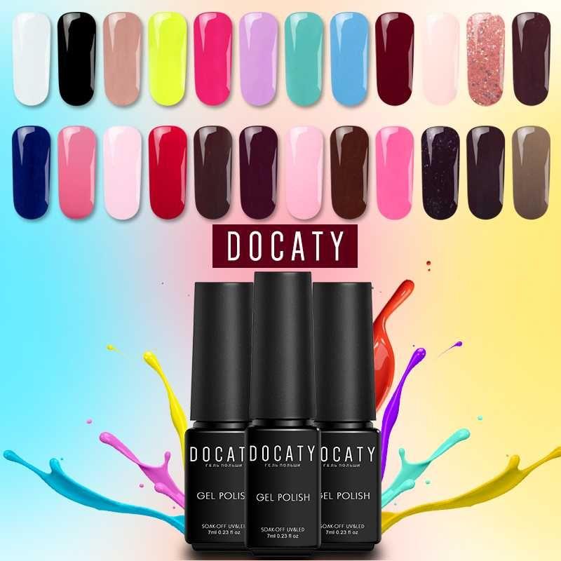 Docaty Uv Led Gel Paint Nude Nail Polish Set 24 Pure Colors