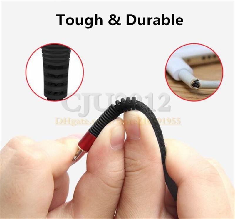 Tipo de tecido c Micro usb cabo 1 m 3ft cabos de nylon trançado para samsung galaxy s6 s7 s8 s9 sony telefone móvel android telefone 7