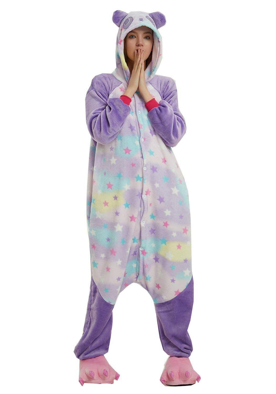 d7488ddc8adae5 Unisex Adulto Estrela Panda One One Piece Pijama Com Capuz Onesie Fancy  Dress Macacão Cosplay