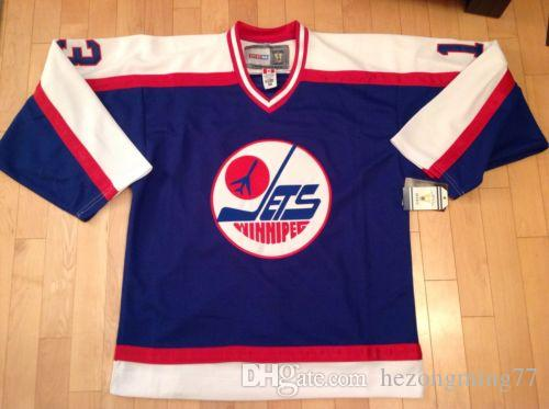 quality design 3fa7b 36135 free shipping mens #13 Teemu Selanne Winnipeg Jets Ice Hockey Jersey  Embroidery Stitched Customize any number and name