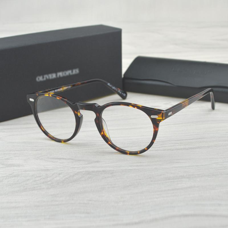 bcde9e313f9 Vintage Optical Glasses Frame OV5186 Eyeglasses Oliver Peoples Gregory Peck  Ov 5186 Reading Glasses Women And Men Eyewear Frames Leopard Print Eyeglass  ...