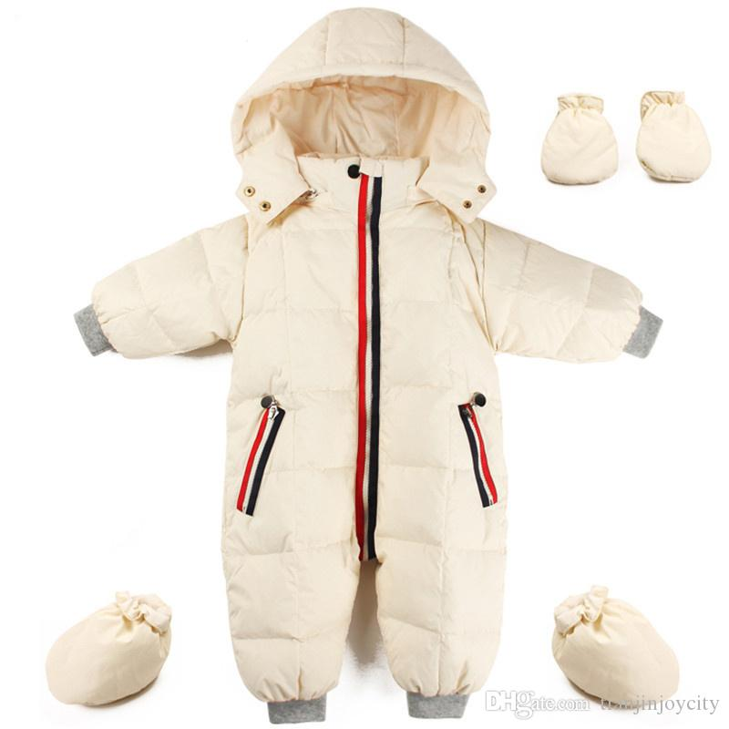 e6c7402f5273 Russian winter jumpsuit clothes baby clothing snowsuit 90% duck costume  down jacket for girl coat Parka for infant boy snow wear