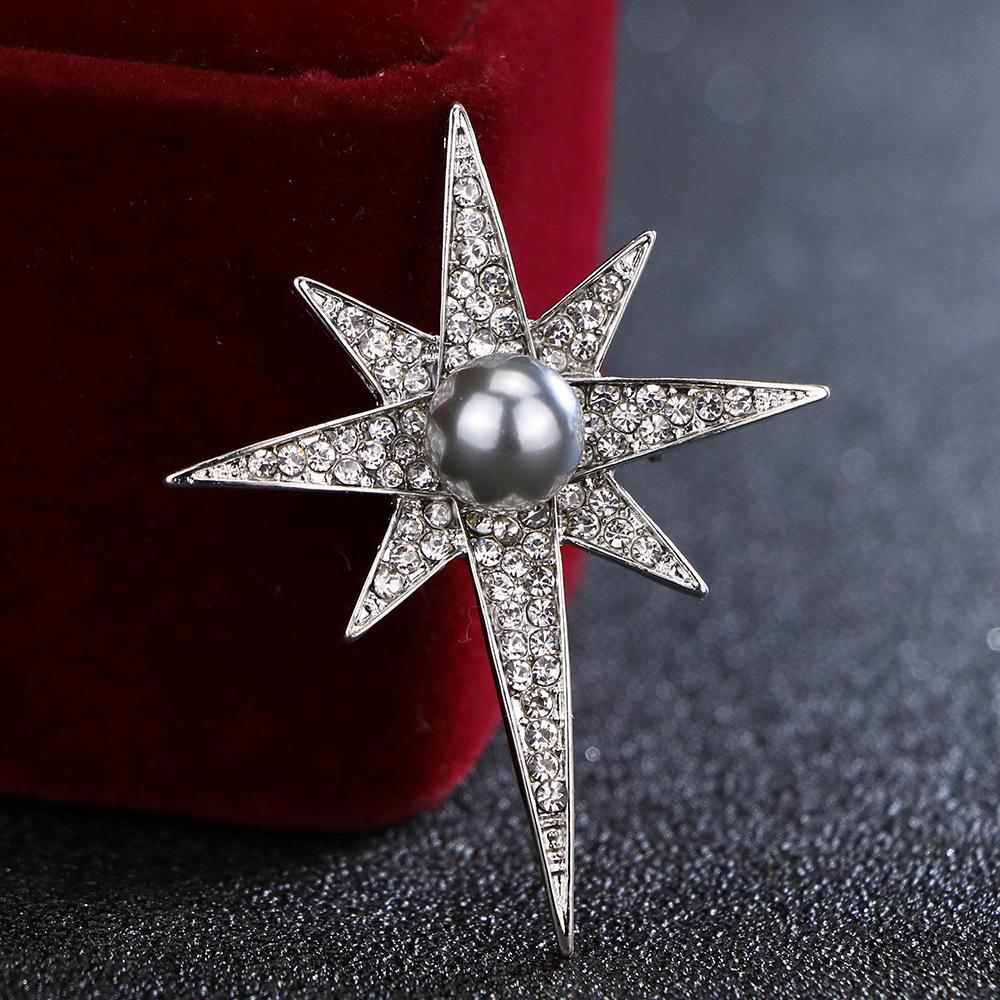 5da7a1225f32 Acheter I Remiel Coréenne Nouvelle Mode Cristal Étoile Broche Pour Hommes  Et Femmes Pins Et Broche Perle Badge Bijoux Chemise Collier Accessoires De   35.35 ...