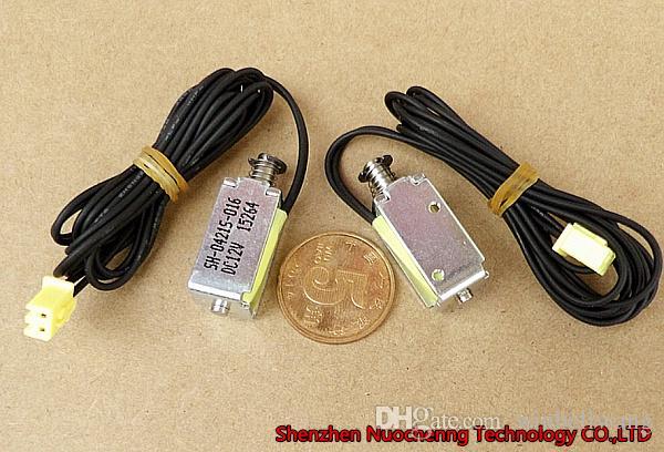 Marque nouvelle course micro électro DC12V de 4 mm 10 * 11 * 21mm Push-Pull solénoïde électroaimant cadre ouvert ~
