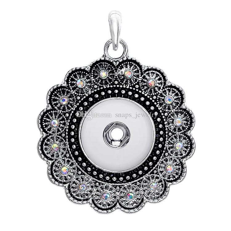 collana stile vintage Noosa pezzi cuore croce con bottone a pressione con bottone a pressione 18mm le donne