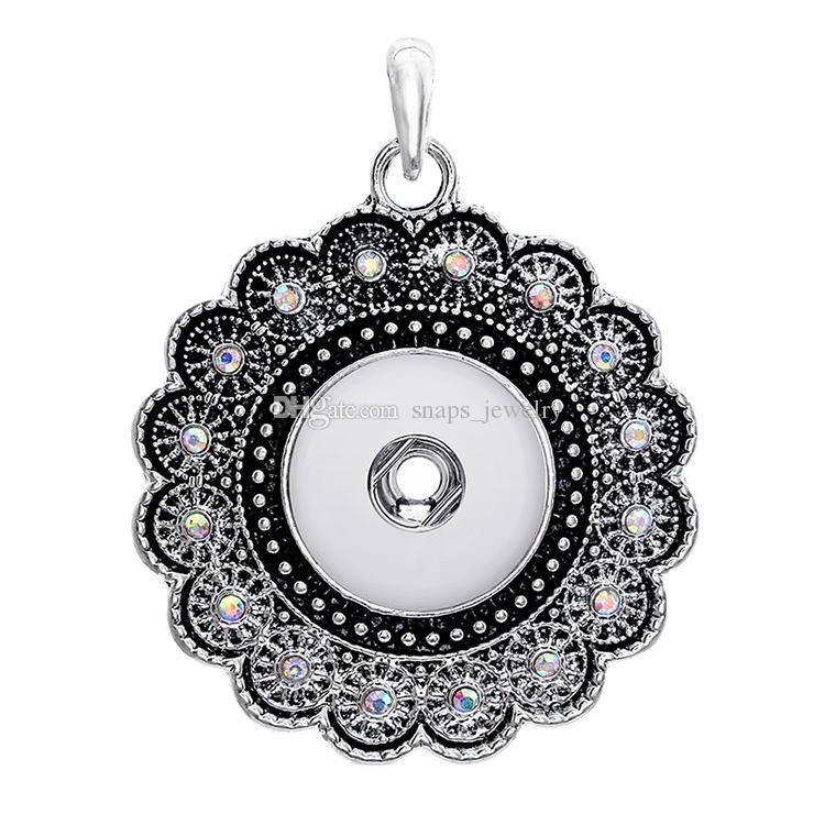 Estilo vintage Noosa trozos corazón cruz encanto botón de botón rápido ajuste 18mm botón a presión joyería para mujeres