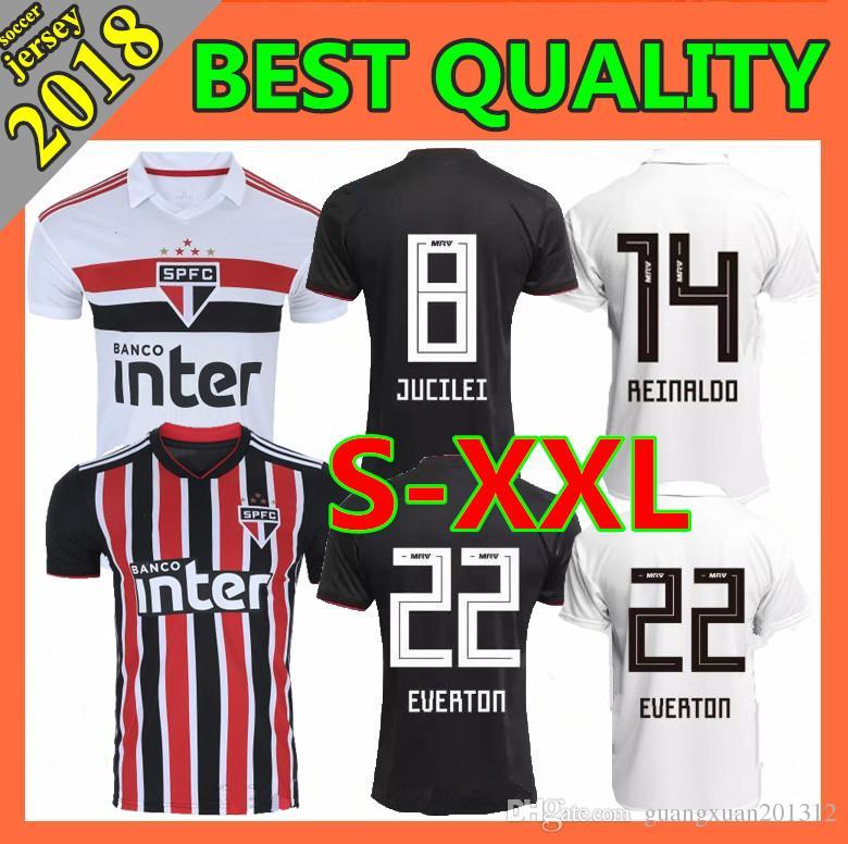 3511352786 2019 Size S XXL 2018 Sao Paulo Soccer Jersey 1819 Home NENE EVERTON DIEGO  SOUZA B. ALVES CUEVAS JUCILEI Away Football Shirts From Guangxuan201312