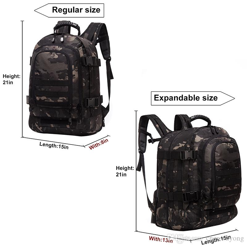 6ab297f55975 3 Day Expandable Backpack Military Backpack High Quality Water Rrsistant  For Camping