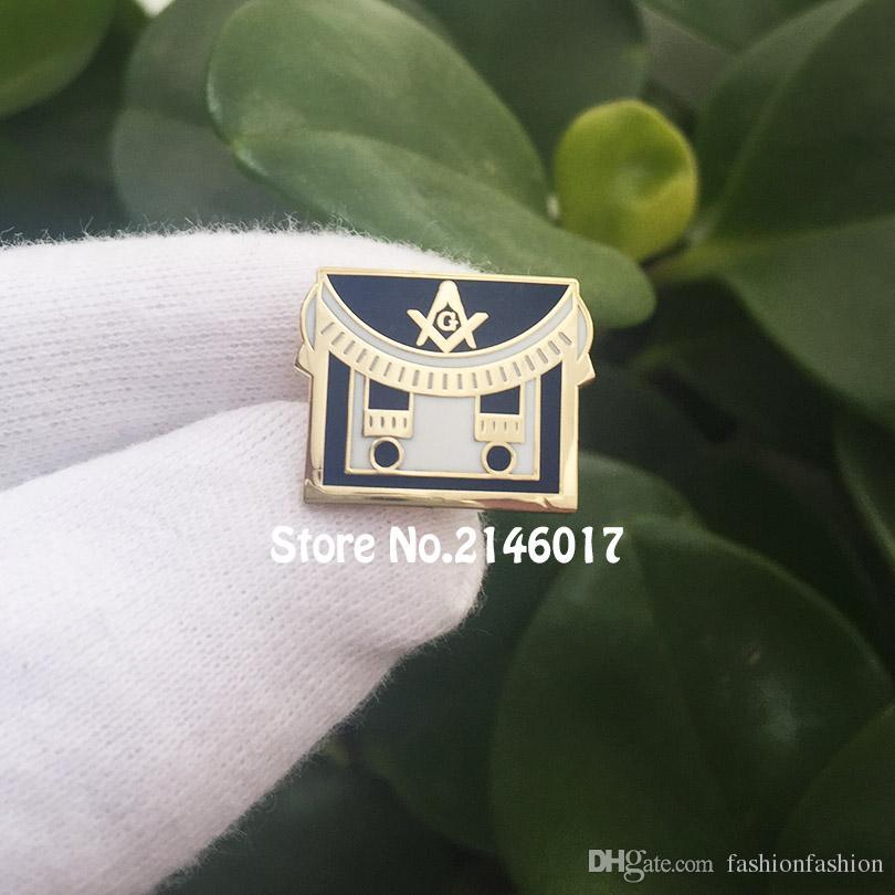 100pcs Freemason Square and Compass Lapel Pins Enamel Brooch Free Masons  Metal Craft Custom Making Pin Badge Masonic Apron Mason