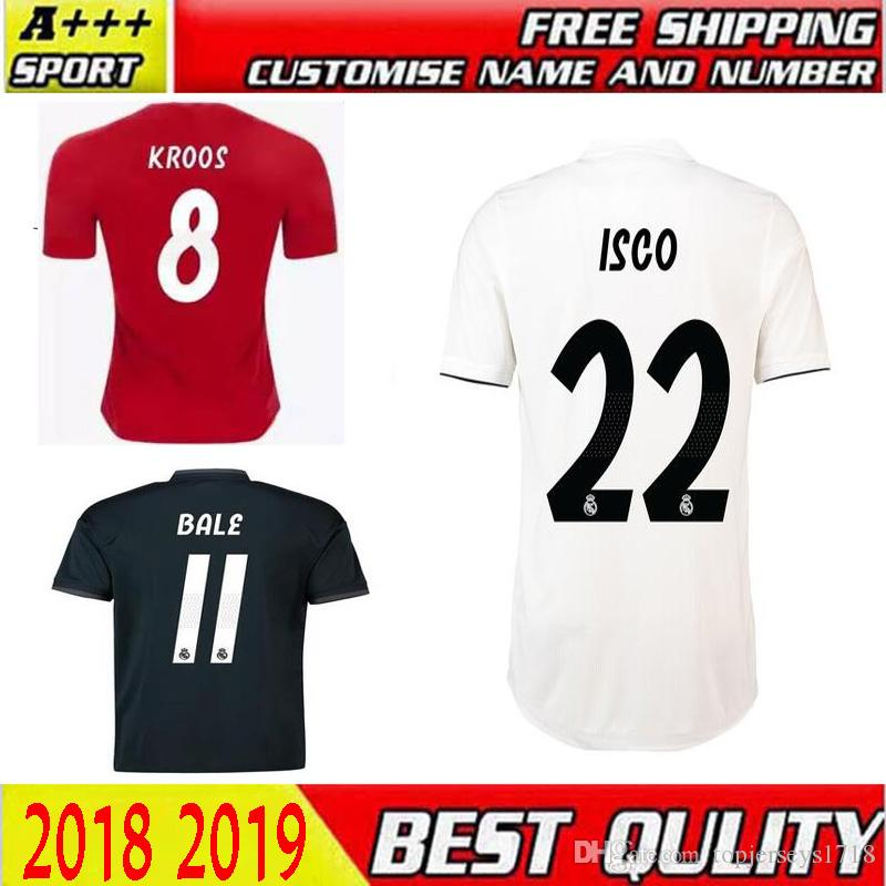 4eb712b7d 2019 Thai Quality 2018 Real Madrid Camiseta De Futbol Soccer Jersey 18 19  Home Away 3rd MODRIC ISCO RAMOS Asensio Kroos BALE Football Jerseys From ...