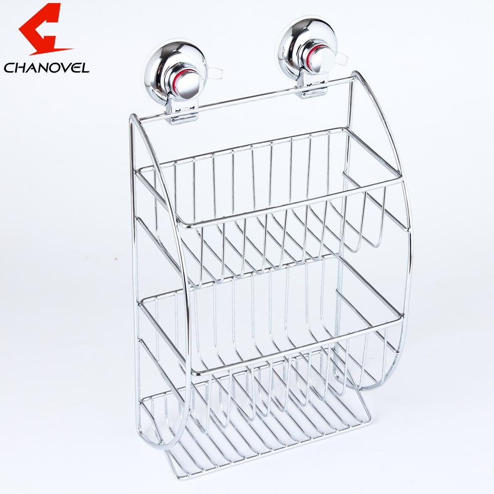 2018 Chanovel Stainless Steel Bathroom Shelves With Robe Hook 3 Tier ...