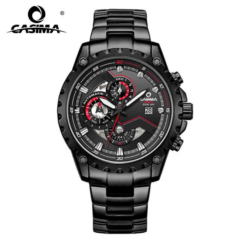 Reloj Hombres De Relojes Negocios Cuarzo Cronógrafo Automático Pulsera Lujo Casima Inoxidable Nuevos Impermeable Mecánicos Acero Ac5L4q3Rj