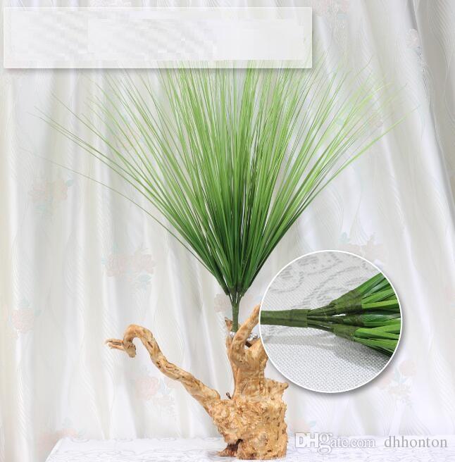 60 سنتيمتر الاصطناعي زهرة محاكاة العشب أوراق البصل العشب الحرير زهرة الديكور زهرة ترتيب النباتات محاكاة هندسة العشب AP006