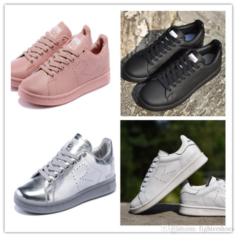 new product 618bf 1b266 2018 Raf Simons Stan Smith Spring Copper White Pink Black Shoes Design Shoes  For Men Casual Leather Brand Women Man Shoes Flats Sneakers Comfort Shoes  ...