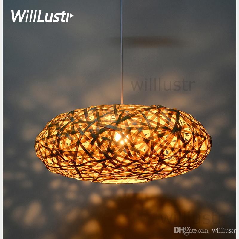 Handmade bamboo pendant lamp bird nest home bedroom hotel dinning handmade bamboo pendant lamp bird nest home bedroom hotel dinning room restaurant hand knitted suspension hanging light brass pendant lights hanging ceiling aloadofball Choice Image